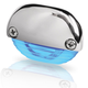 Hella Blue LED Easy Fit Step Lamp - 12-24V DC - Polished 316 Stainless Steel Cap