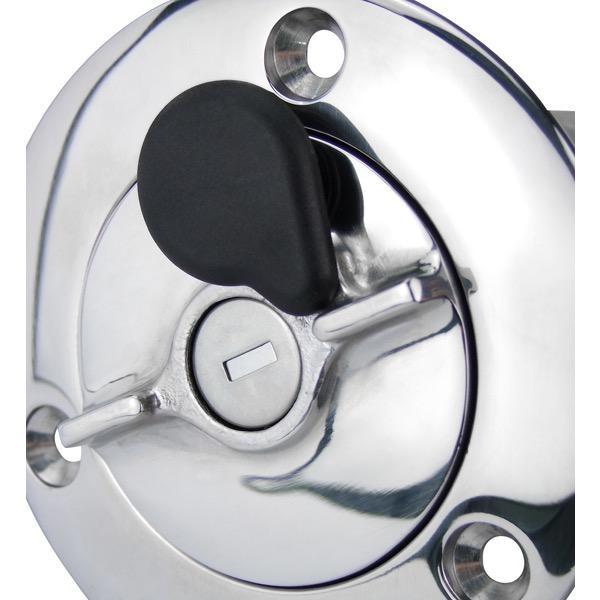 Sam Allen Lockable Fuel Filler - 38mm - 316 Stainless Steel