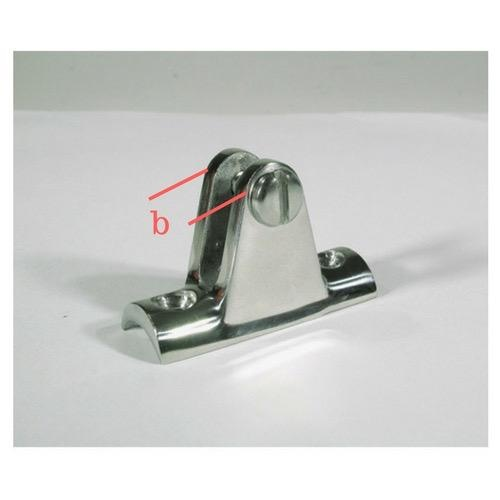 BLA Canopy Rail Mount - Stainless Steel - Base Dim: 57 x 20mm - Height: 32mm