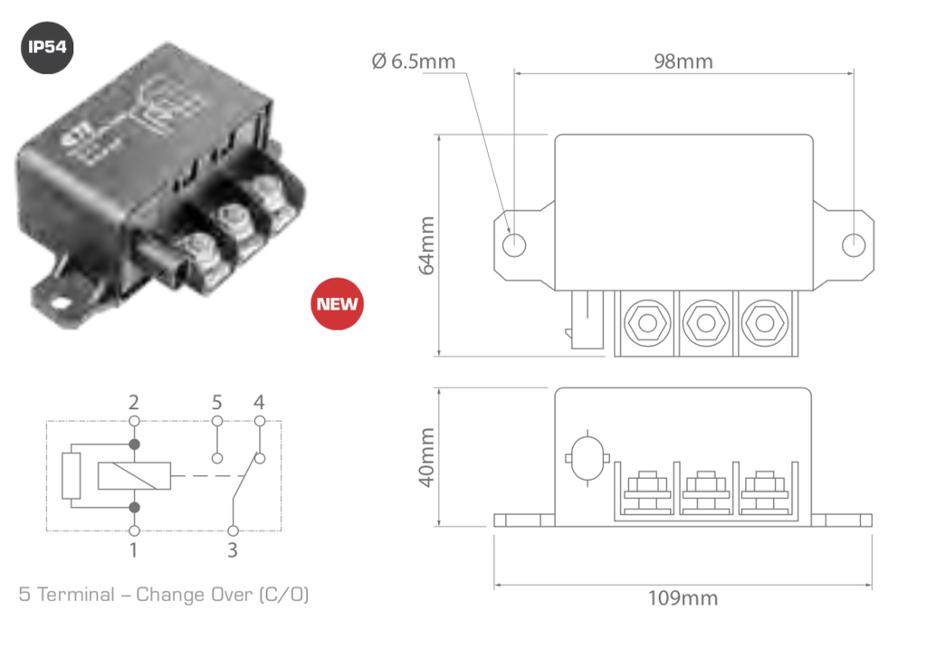 Enerdrive Relay 12V/150A Change Over