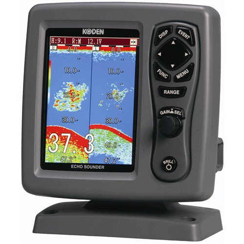 "Koden Digital Sounder 5.6"" Colour LCD Dual Frequency 600W + Transom Mount Transducer 600W DTS"