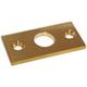 R W Basham Rowlock Plate Flat Brass