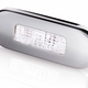 Hella LED Surface Mount Oblong Courtesy Lamp - Polished Stainless Steel Rim - 12/24V DC - White Light
