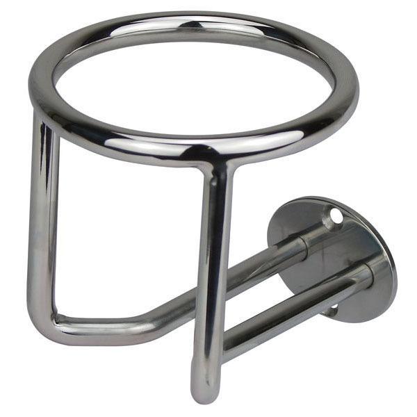 Sam Allen Drink Holder - Vertical Surface Mounting - Stainless Steel