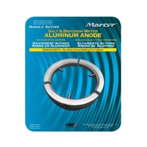Martyr Volvo Type Anode (Alloy) Kit - Volvo Folding Prop 3-blade Enging D25A, B, C, D, E, F