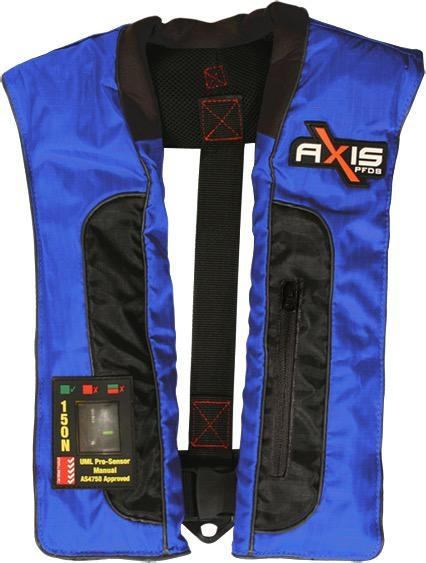 Axis Offshore Pro 150 Mk2 - Manual Inflatabale Lifejacket (PFD) - Blue