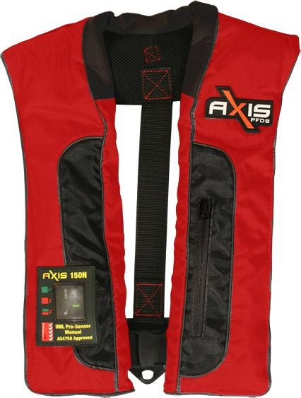 Axis Offshore Pro 150 Mk2 - Manual Inflatabale Lifejacket (PFD) - Red
