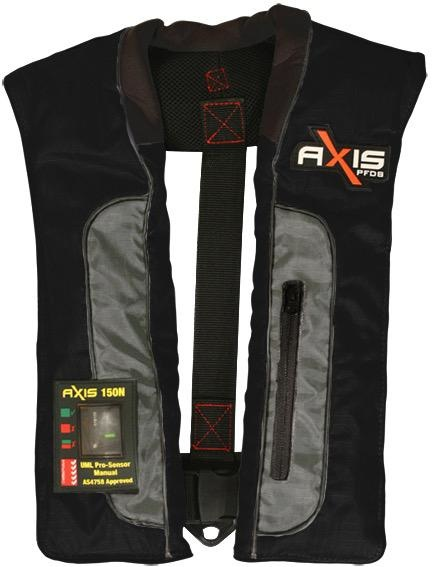 Axis Offshore Pro 150 Mk2 - Manual Inflatabale Lifejacket (PFD) - Grey