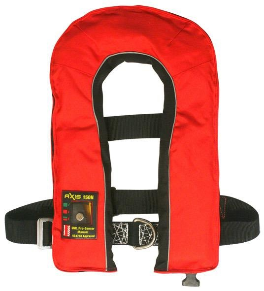 Axis Offshore Pro 150 Mk2 - Manual Inflatable Lifejacket with Harness - Red
