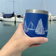 Nautigo 'Sail Away' - Double Walled Stainless Steel Insulated Wine Cup
