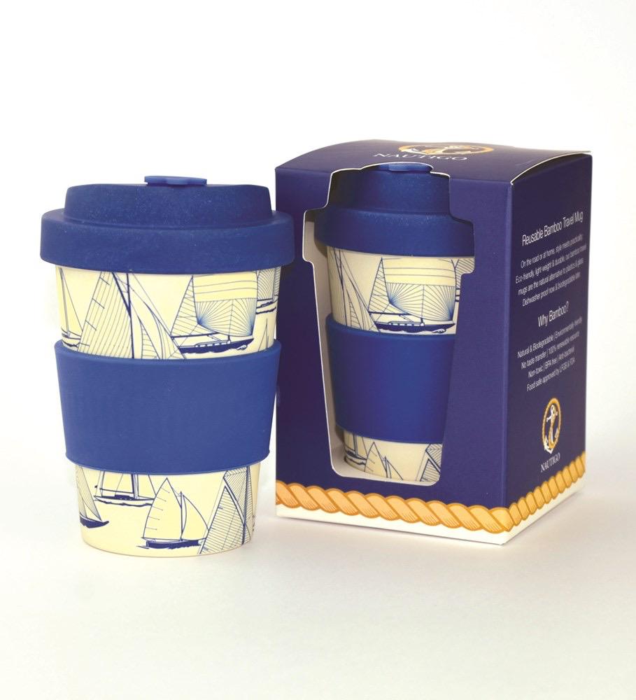 Nautigo 'Sail Away' - 300ml Bamboo Travel Mug