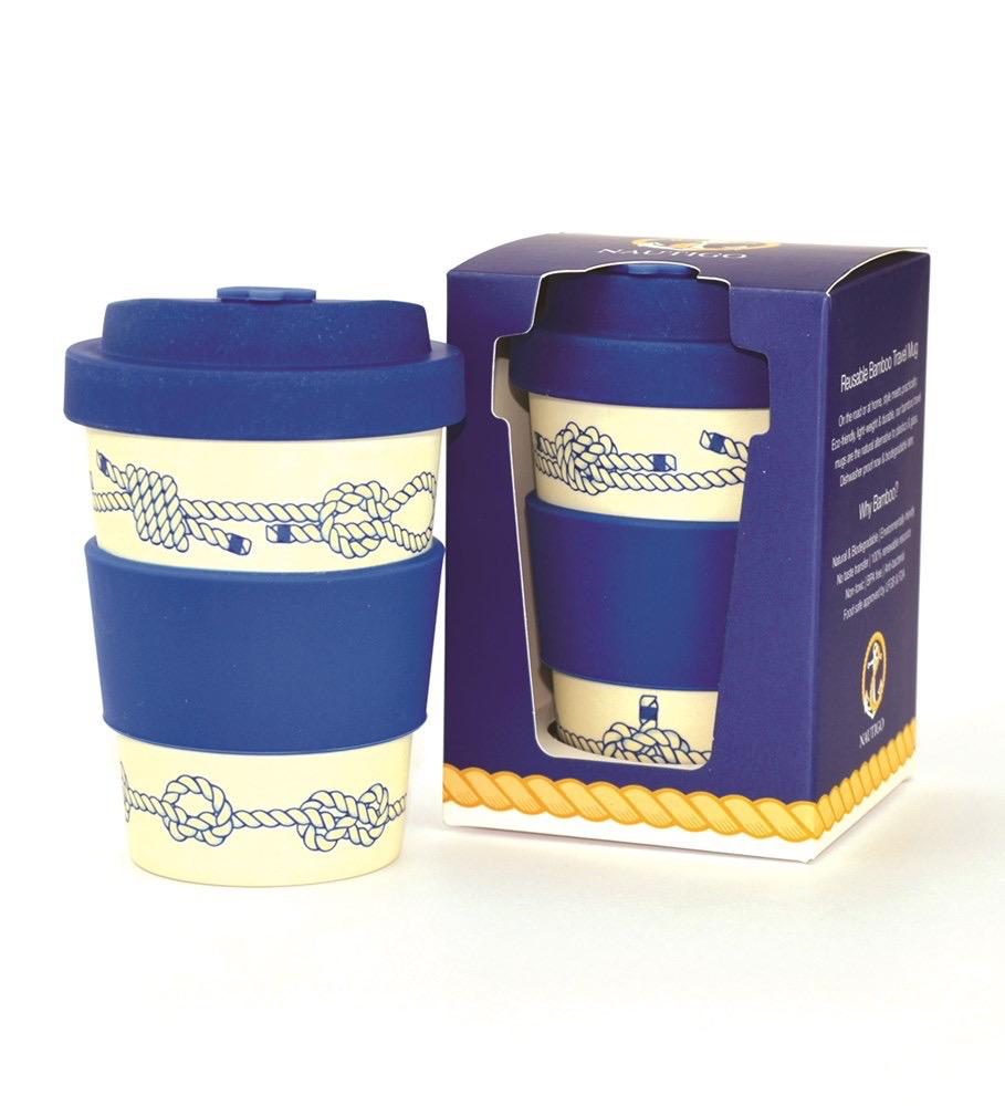 Nautigo 'Nautical Knots' - 300ml Bamboo Travel Mug