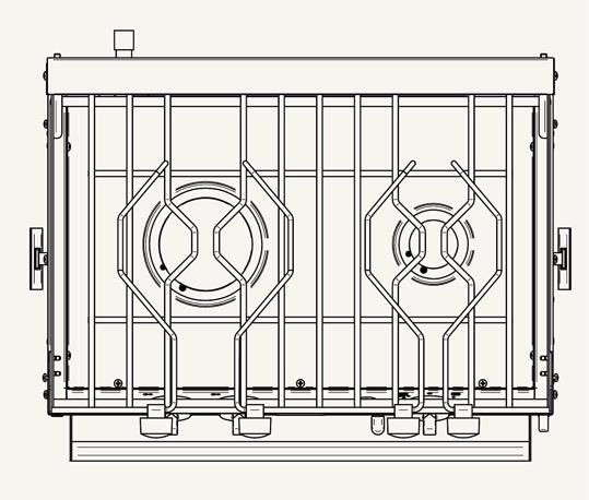 Force 10 2 Burner Gimballed Oven - European Standard Size