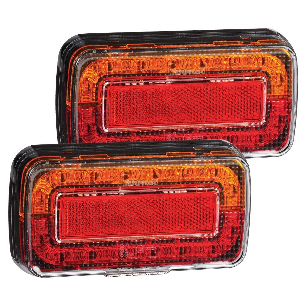 Narva 12V Model 37 L.E.D Slimline Rear Stop/Tail, Direction Indicator Lamps w/ Licence Plate Lamp