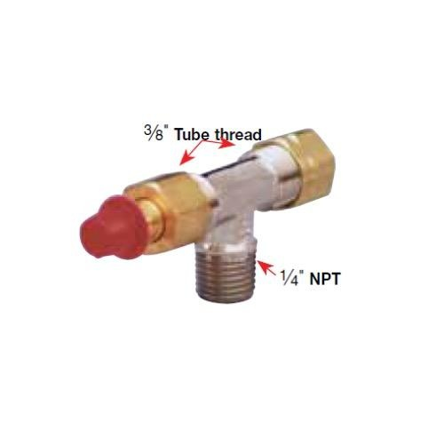 "SeaStar Solutions Horizontal Bleeder Tee - Brass - 1/4"" NPT to 3/8"" Tube"