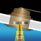 Koden Tilted Element Through Hull Transducer - 20 Degree - 1kW - Bronze DT