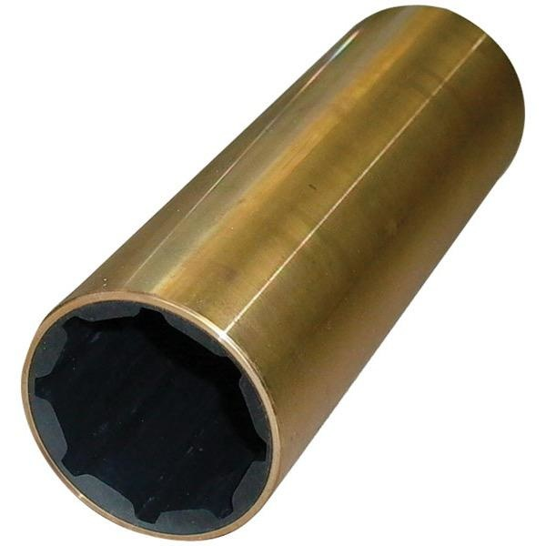 "Sam Allen Imperial Brass Rubber Bearing - Italian Made - Shaft Dia: 1-1/2"" - External Dia: 2-3/8"" - Length: 6"""