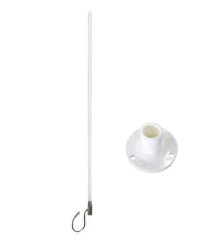 Blackhawk Marine WideBand Omni HG 7 / 10dBi Antenna - No Cable - Suits 3G/4G Routers - Standard Fixed Base