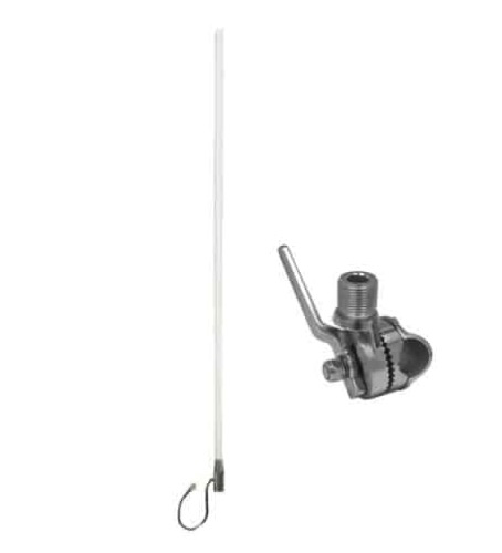 Blackhawk Marine WideBand Omni HG 7 / 10dBi Antenna - No Cable - Suits 3G/4G Routers - Stainles Steel Rail Mount