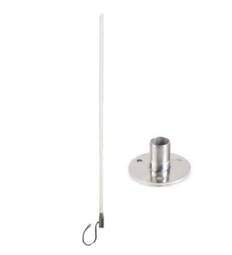 Blackhawk Marine WideBand Omni HG 7 / 10dBi Antenna - No Cable - Suits 3G/4G Routers - Stainles Steel Fixed Base