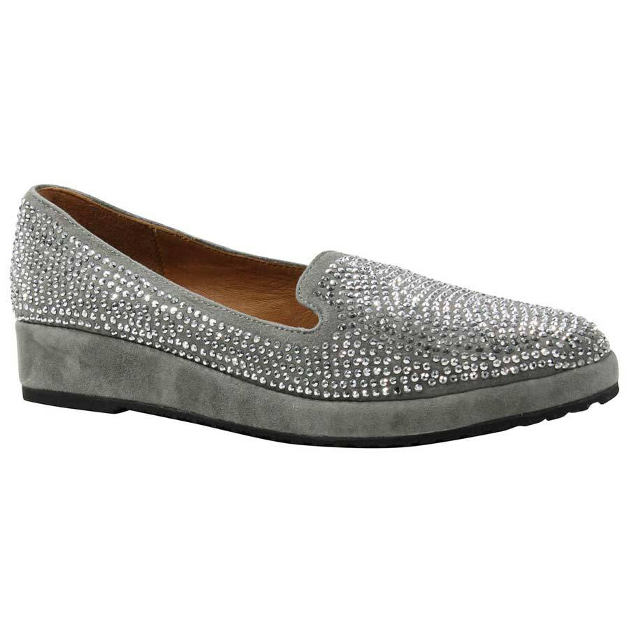 Black and Silver Velvet Loafers-To Bling or Not to Bling