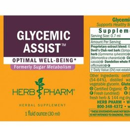 Herb Pharm Glycemic Assist Ext 1 oz