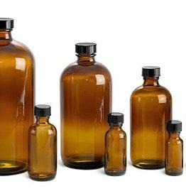 Amber Glass Bottle  16 fl oz