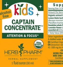 Herb Pharm Kids Captain Concentrate -1 fl oz