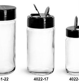 Clear Glass SPICE Jars  6 fl oz