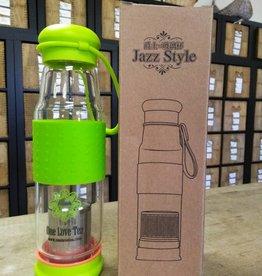 Tea Infuser glass bottle-One Love