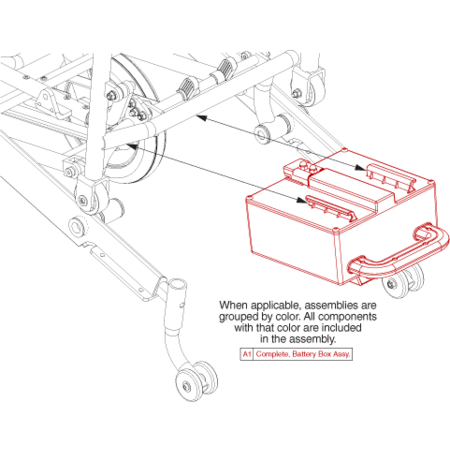PRIDE MOBILITY BATTERY ASSY, PASSPORT