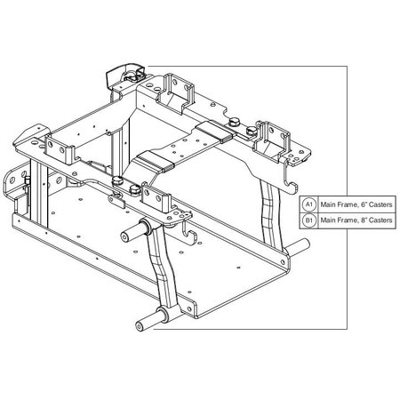 PRIDE MOBILITY Q6 EDGE 8 in Casters Main Frame Assemblies