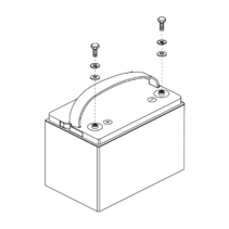 PRIDE BATTERY,PACKAGED,INTERCEPTOR,GEL,55AH,NF-22,(YAHENG: 6-EVF-55)