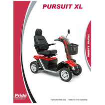 PRIDE OWNER'S MANUAL FOR THE PURSUIT XL