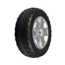 PRIDE FOAM FILLED REAR WHEEL ASSEMBLY WITH BLACK FLAT-FREE TIRE FOR VICTORY 10, VICTORY ES 10, & VICTORY SPORT