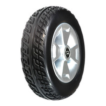 PRIDE FRONT WHEEL ASSEMBLY WITH BLACK MOLDED TIRE FOR VICTORY 9, VICTORY ES 9, AND GO-GO SPORT 3-WHEEL SCOOTERS