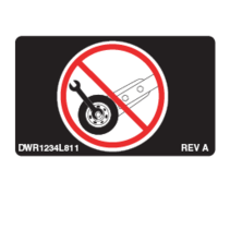 "PRIDE DECAL,ICON,DO NOT ADJUST ANTI-TIP,1.25"" X 0.75"",JAZZYSELECT,L-1234-811"