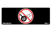 "PRIDE DECAL,ICON,DO NOT ADJUST ANTI-TIP,2.16"" X 0.75"",L-1235-278"
