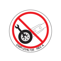 "PRIDE DECAL,ICON,DO NOT ADJUST ANTI-TIP,0.75"" DIAMETER,L-1234-135"