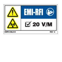 PRIDE DECAL,WARNING,EMI-RFI,20V/M,L-1235-512