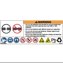 PRIDE DECAL,BATTERY WARNINGS,L-1235-061