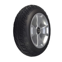PRIDE BLACK FOAM-FILLED FRONT WHEEL ASSEMBLY FOR THE 3-WHEEL CELEBRITY X (SC4001) & MEGA MOTION ENDEAVOR X (MM4001DX)