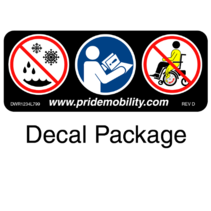 PRIDE DECAL,ASSY,CELEBRITY X,3 WHEEL,SC4001,UNITED STATES