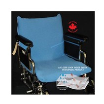 VENTOPEDIC WHEELCHAIR SEAT & BACK COVER - Blue