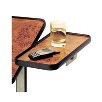 PLATEAU LATERAL POUR TABLE DE LIT « HERDEGEN » AVEC FINITION EN NOYER