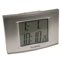 TALKING 4-ALARM CLOCK WITH BACKLIGHT