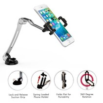 CTA Digital Compact Folding Arm Mount with Suction Base for Smartphone