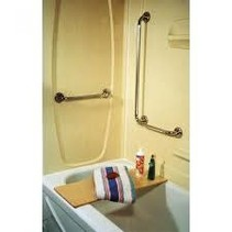 16 x 24 in RIGHT HAND GRAB BAR, CHROME