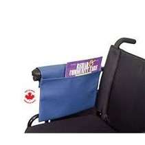 WHEELCHAIR ARM POUCH - BURGUNDY