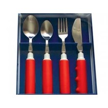 PARSONS RED COMFORT GRIP CUTLERY SET